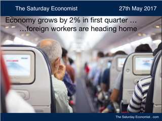 The Saturday Economist ... Economy grows by 2% in first quarter of the year ...