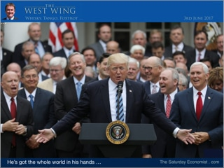 #WestWingWTF - He's got the whole world in his hands ...