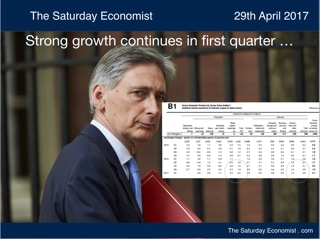 The Saturday Economist ... Strong growth continues in first quarter ...