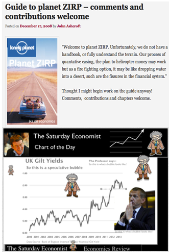 The Saturday Economts, Bubbles and Bond Prices, the real cost of QE